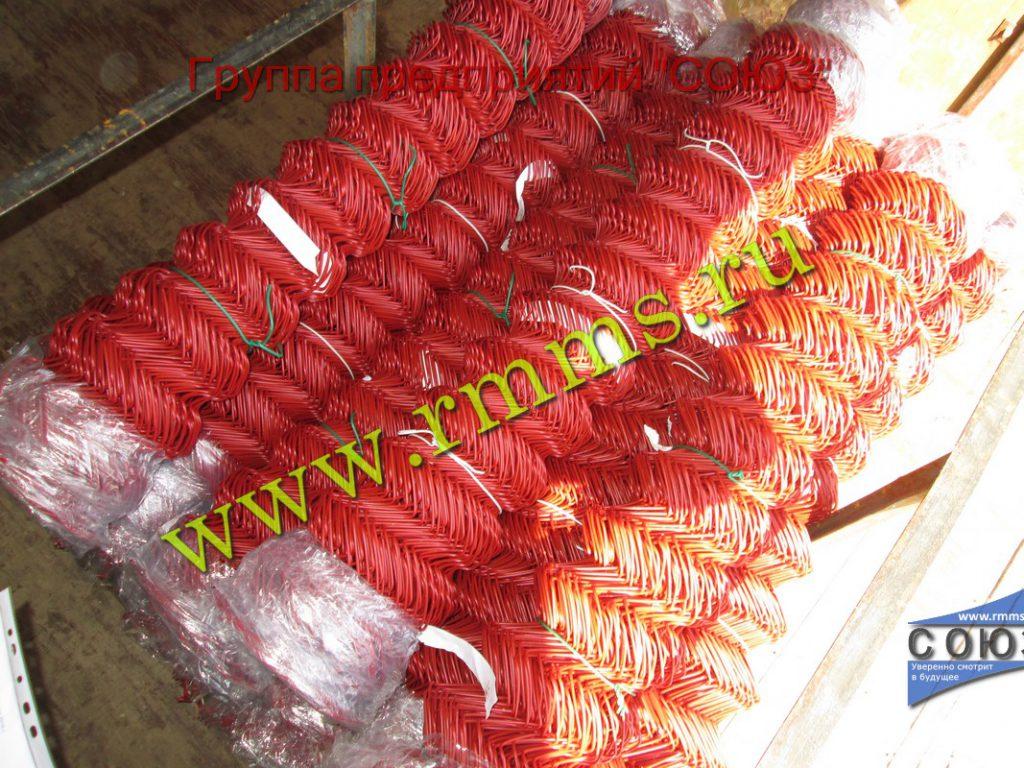сетка рабица с пвх покрытием красная